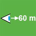 Erkennungsweite-60m
