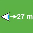 Icon-Erkennungsweite-27m