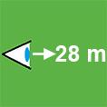 Icon-Erkennungsweite-28m
