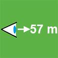 Icon-Erkennungsweite-57m
