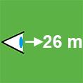 Erkennungsweite-26m-quadratisch